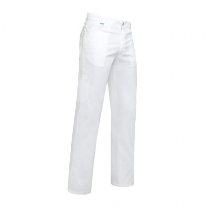 Theo Pantalon Wit Stretch